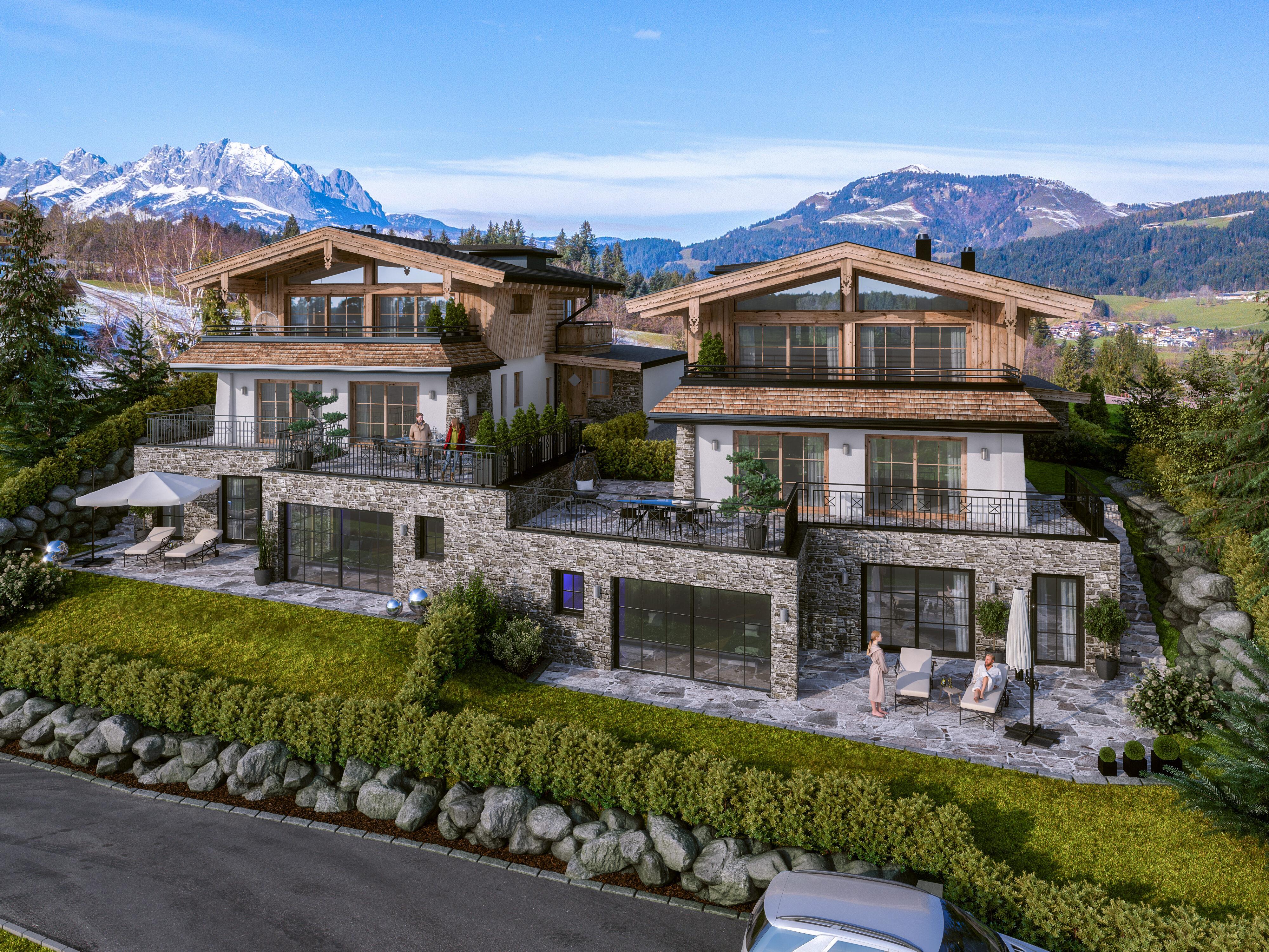 Luxuriöse Landhauschalets